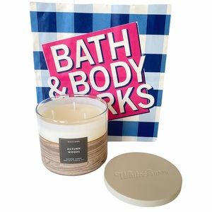 Bath & Body Works Autumn Woods 3 wick Candle